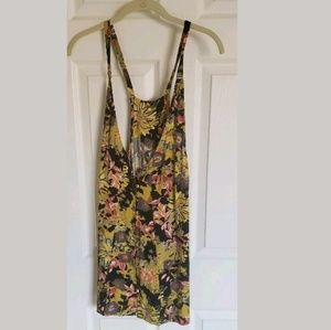 Free People Floral Button Down Slip Dress